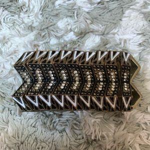 Gold Black White Elastic Bracelet ⚡️